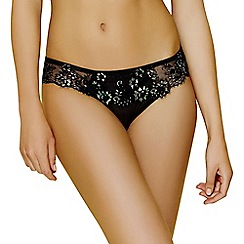 Ultimo - Black lace 'Cindi' Brazilian knickers