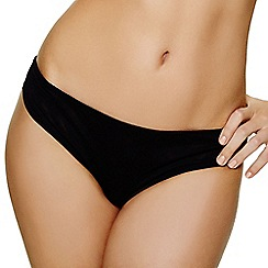 Ultimo - Black mesh 'Jamie' Brazilian knickers