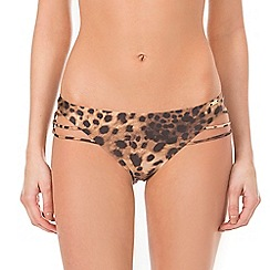 Ultimo - Black animal print bikini bottoms