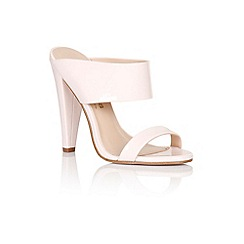Paper Dolls - Nude two strap slip on heels