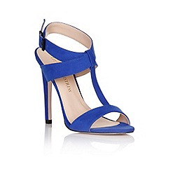 Little Mistress - Blue cross over buckle heels