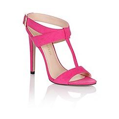 Little Mistress - Pink cross over buckle heels