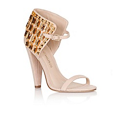 Little Mistress - Nude gem ankle detail heels