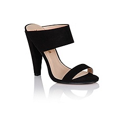Paper Dolls - Black two strap slip on heels
