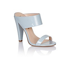 Paper Dolls - Blue two strap slip on heels