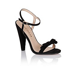 Paper Dolls - Black bow two strap heels