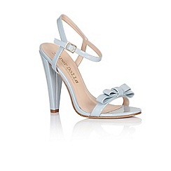 Paper Dolls - Blue bow two strap heels