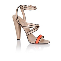 Paper Dolls - Coral multi strap heels