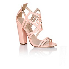 Little Mistress - Pink square heel strap shoes