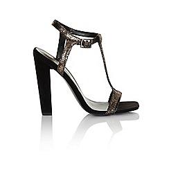 Paper Dolls - Black microfiber t-bar strap heel