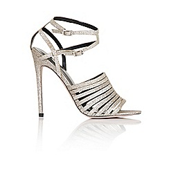 Little Mistress - Gold glitter strappy heel