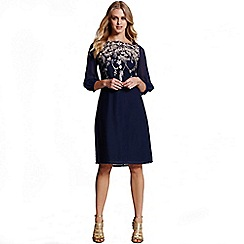 Little Mistress - Navy and gold embroidered tunic