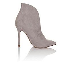 Paper Dolls - Grey gap curve heel boot