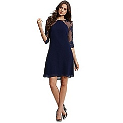 Little Mistress - Navy lace tunic dress