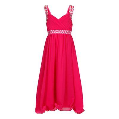 Little Misdress Pink chiffon maxi dress