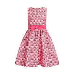 Little Misdress - Pink teardrop pattern party dress