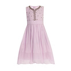 Little Misdress - Lilac embellished front party dress