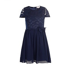 Little Misdress - Navy lace top dress