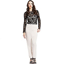 Little Mistress - Black and cream lace top jumpsuit