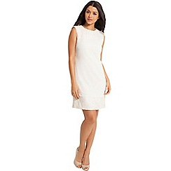 Little Mistress - White embellished shift dress