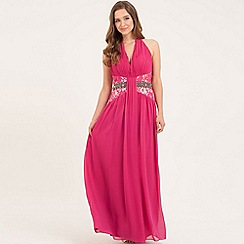 Little Mistress - Magenta embellished maxi dress
