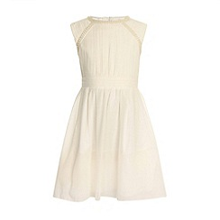 Little Misdress - Cream pearl embellished party dress