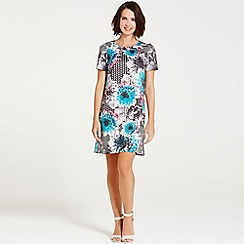 Paper Dolls - Tropical geo floral tunic dress