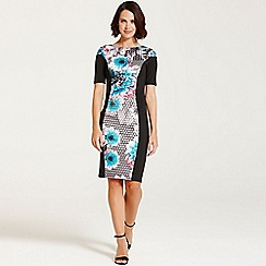 Paper Dolls - Tropical geo floral bodycon dress