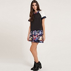 Girls On Film - Geo space print skater skirt
