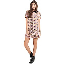 Girls On Film - Collared floral tunic dress