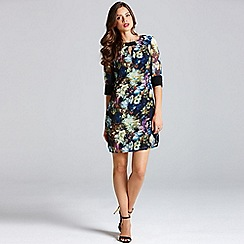Little Mistress - Dark floral tunic dress