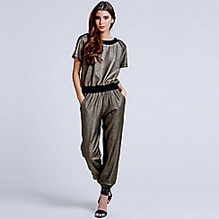 Girls On Film - Pewter cuffed trousers