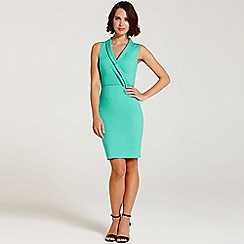 Paper Dolls - Green cross over front dress