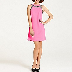 Paper Dolls - Hot pink lace trim shift dress