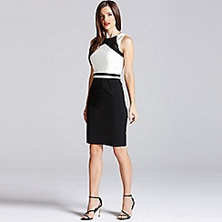 Paper Dolls - Black and white lace insert dress
