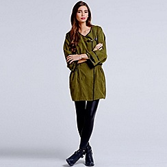 Girls On Film - Khaki wrap over parka jacket