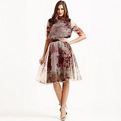 Little Mistress - Floral organza a line skirt