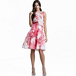 Little Mistress - Pink floral print a line skirt