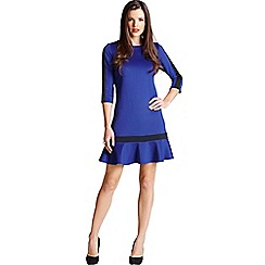 Paper Dolls - Blue frill hem dress