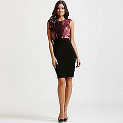 Little Mistress - Berry 2 in 1 embellished dress