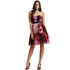 Little Mistress - Berry watercolour bandeau dress