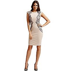 Little Mistress - Nude and silver sequined dress