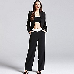Paper Dolls - Black and cream wide leg trousers