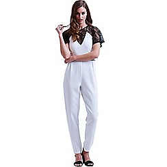 Paper Dolls - White and black lace top jumpsuit