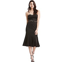 Paper Dolls - Black metallic trim bandeau dress
