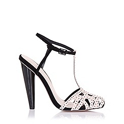 Little Mistress - Cybele black embellished round toe heel