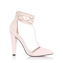 Little Mistress - Artemis nude geometric cuff heels