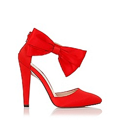 Little Mistress - Fortuna red satin heel with bow
