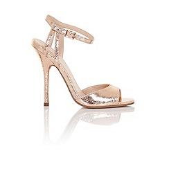Little Mistress - Tia rose gold strap heels