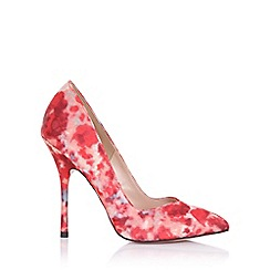 Paper Dolls - Blossom red print court shoe
